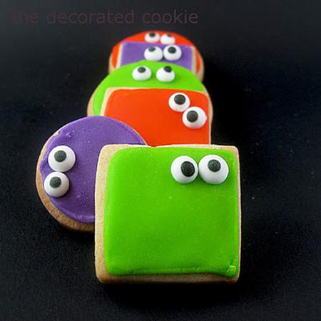 Eyed Halloween cookies
