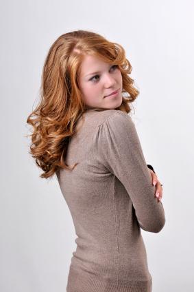 Red hair - Bouncy curls