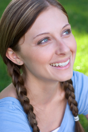Braided hairstyle - Low pigtail braids