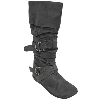 Faux suede boots