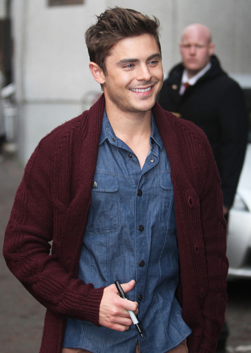 Zac Efron at the ITV studios in London
