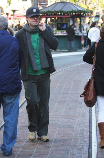 Zach Braff out Christmas shopping at The Grove