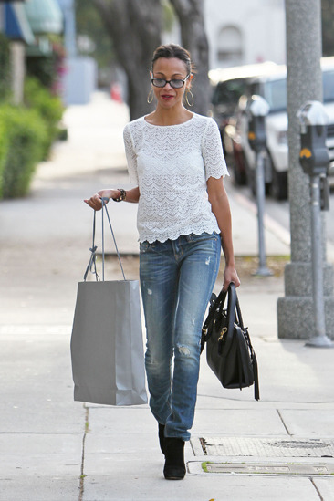 Zoe Saldana goes shopping