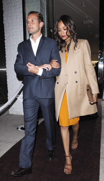 Zoe Saldana leaves a Michael Kors event