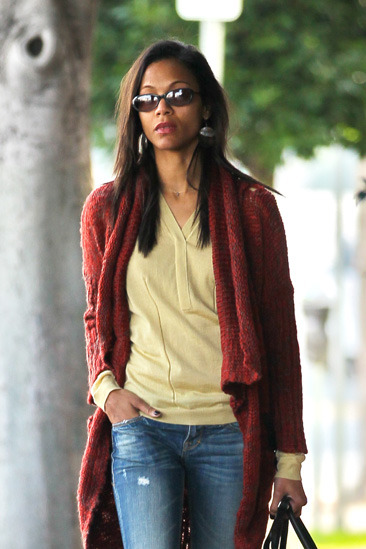 Zoe Saldana out and about in West Hollywood looking chic
