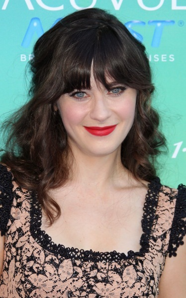 Zooey Deschanel's romantic hairstyle