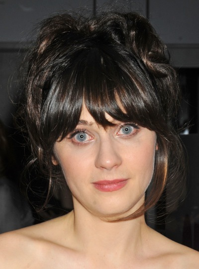 Zooey Deschanel with full bangs