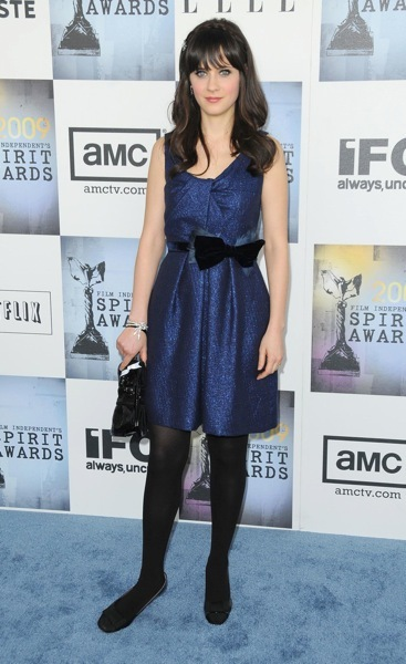 Zooey Deschanel in flats