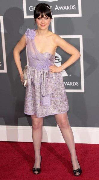 Zooey Deschanel in a summer dress