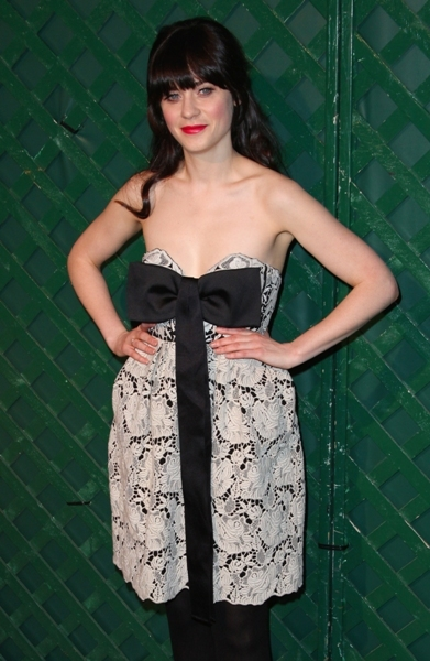 Zooey Deschanel in a bow dress