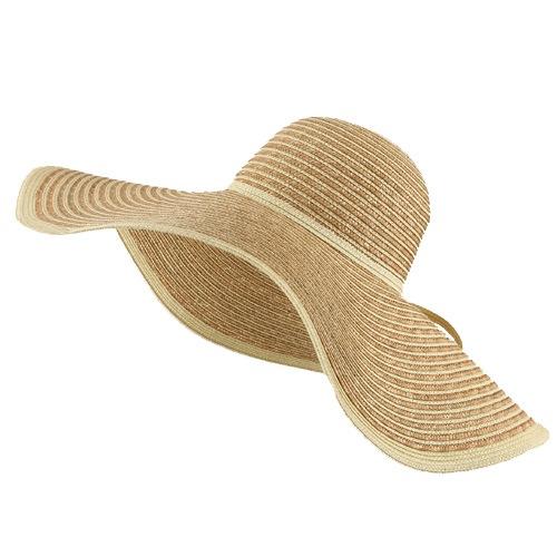 Large Straw Stripe Sun Hat