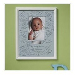 personalized baby autograph frame blue