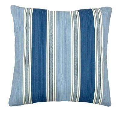 Porcelain Blue Decorative Pillows : Stripe Porcelain Blue decorative Throw Pillow - Gift Ideas