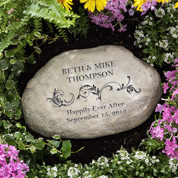 personalized garden stone gift ideas