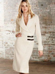 Buckle-wrap Sweaterdress - Gift Ideas
