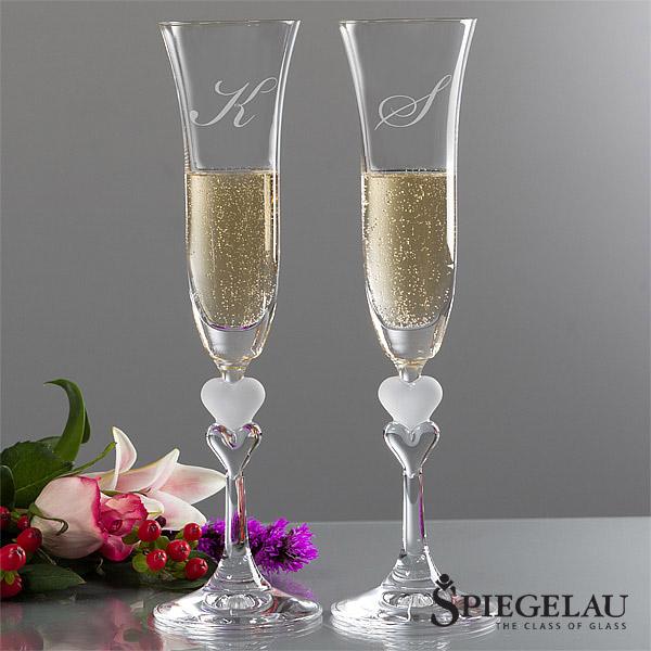 Spiegelau monogram sweetheart champagne flutes gift ideas - Spiegelau champagne flute ...