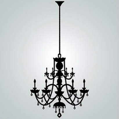 Wall decal chandelier thejots rhinestone chandelier vinyl wall decal gift ideas lighting ideas mozeypictures Images