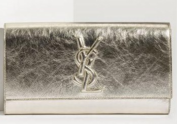 Yves Saint Laurent \u0026#39;Belle de Jour\u0026#39; Metallic Envelope Clutch - Gift ...