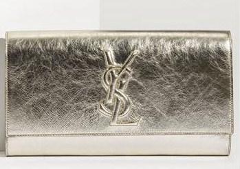 Yves Saint Laurent \u0026#39;Belle de Jour\u0026#39; Metallic Envelope Clutch - Gift ...