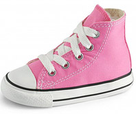 Pink converse baby shoe