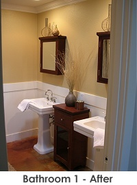 Bathroom 1 after remodel - Work by Steve Price, Legacy Custom Building & Remodeling, Arizona