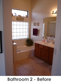 Bathroom 2 before remodel
