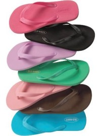 Old Navy flip-flops in a rainbow of colors