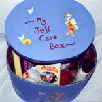 Making self-care boxes