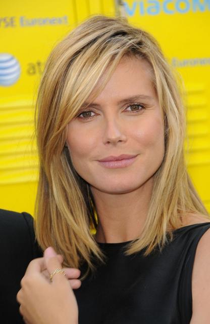 shoulder length hairstyles pictures. Heidi Klum Shoulder Length Hairstyle. Heidi Klum showed off a crisp, cool,