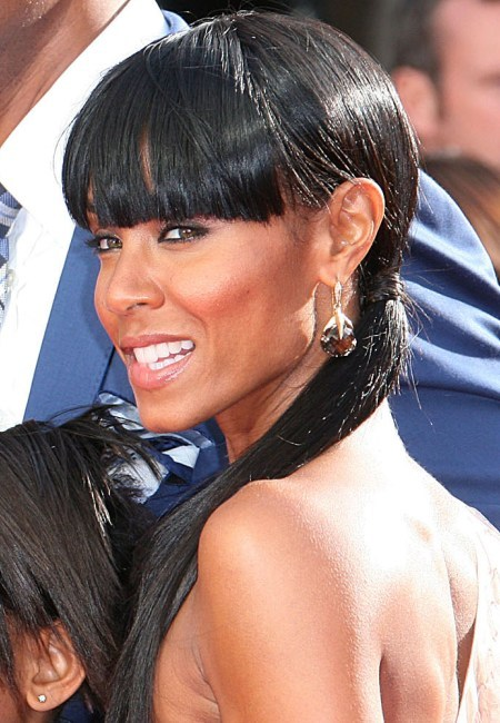 Jada Pinkett Smith&#039;s ponytail hairstyle