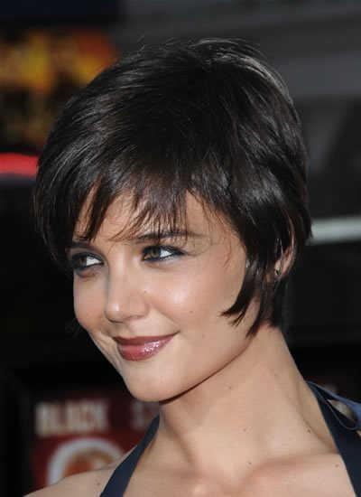 "At the premiere of ""Tropic Thunder,"" Katie Holmes unveils her her short,"
