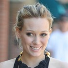 Hilary Duff?s casual updo hairstyle