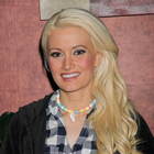 Holly Madison's glamorous, side-swept hairstyle