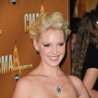Katherine Heigls messy, updo hairstyle