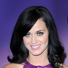 Katy Perrys raven-colored hairstyle