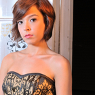 Short Hair - Bob with razor cut layers and bangs swept to side