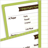 Printable family planner binder