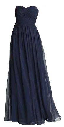 Navy chiffon gown