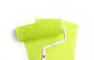 Bright Green Paint Roller