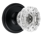 Crystal Door Knob in Oil Rubbed Bronze
