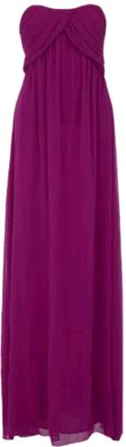 Purple bandeau dress
