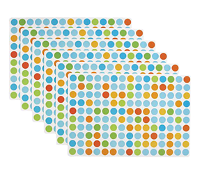 Dotted placemats