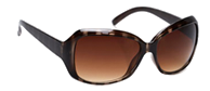 Brown Stripe Sunglasses