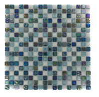 Luminous glass tile