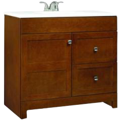 Medium Toned Bath Vanity