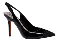 Black sling-back pumps