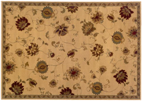 Floral area rug