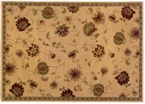Floral area rug