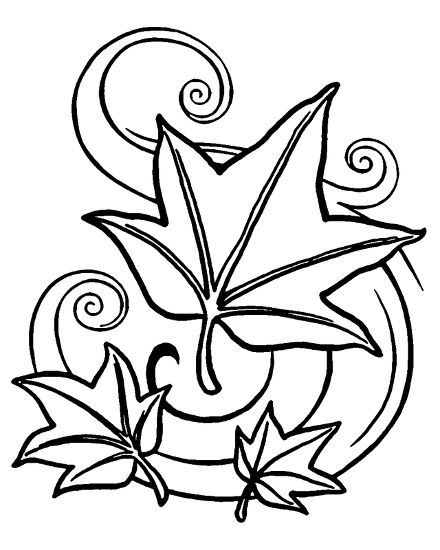 Autumn Coloring Pages Autumn Leaves Fall Leaves Coloring Pages