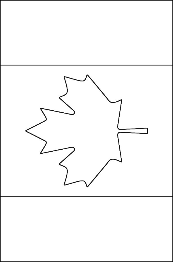 flag coloring pages canada - photo#16